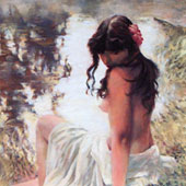 Girl by the river